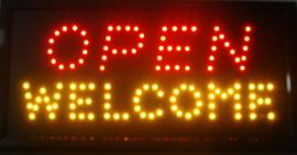 OPEN welkom lamp LED verlichting reclame bord lichtbak #E