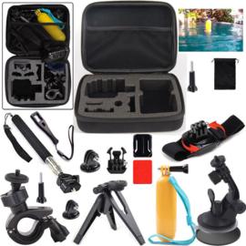 13 in 1 accessoires kit sjcam gopro go pro hero 3 4 5 + case