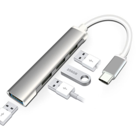 Adapter laptop usb-c hub usb 2.0 3.0 splitter macbook pro air