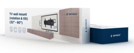 Tv muurbeugel muur beugel draai- en kantelbaar 32-80 inch