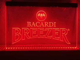 Bacardi breezer neon bord lamp LED cafe verlichting reclame lichtbak *rood*