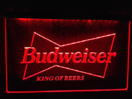 Budweiser neon bord lamp LED 3D cafe verlichting reclame lichtbak