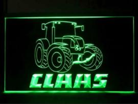 Claas tractor neon bord lamp LED 3D verlichting  lichtbak *groen*