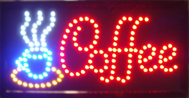 Coffee koffie lamp LED verlichting reclame bord lichtbak #K