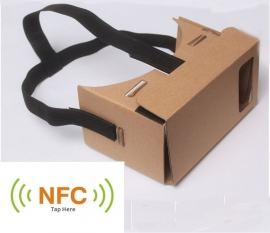 Cardboard card board VR 3D Virtual Reality Bril + STRAP NFC *universeel*