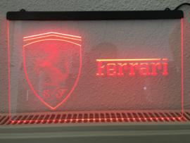 Ferrari neon bord lamp LED 3D cafe verlichting reclame lichtbak