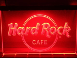 Hard Rock neon bord lamp LED 3D verlichting reclame lichtbak *rood*