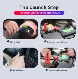 Jumpstarter acculader powerbank starthulp auto motor scooter *rood*