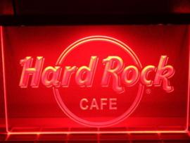Hard rock neon bord lamp LED verlichting reclame lichtbak XL 40x30cm *rood*
