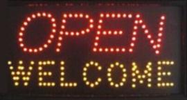 OPEN welkom lamp LED verlichting reclame bord lichtbak #F