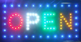 OPEN LED bord lamp verlichting lichtbak reclamebord #C16