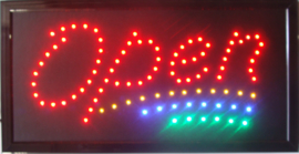 OPEN LED bord lamp verlichting lichtbak reclamebord #C4