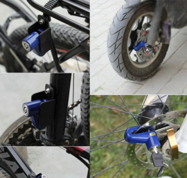 Remschijf slot rem schijf remschijfslot remslot fiets scooter *BLAUW*