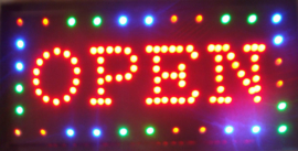 OPEN LED bord lamp verlichting lichtbak reclamebord #C13
