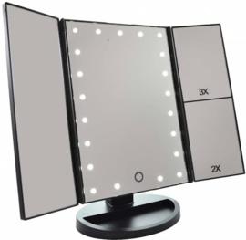 Make up 3x spiegel + LED makeup make-up verlichting drieluik #3