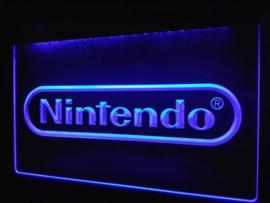 Nintendo game neon bord lamp LED 3D verlichting reclame lichtbak *blauw*