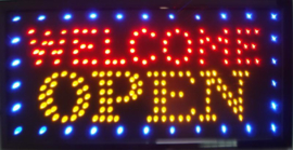 OPEN welkom lamp LED verlichting reclame bord lichtbak #B