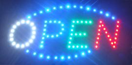 OPEN LED bord lamp verlichting lichtbak reclamebord #C9