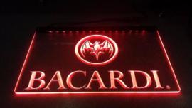 Bacardi neon bord lamp LED verlichting reclame lichtbak XL *40x30cm* #1