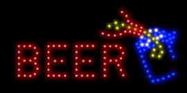Bier drank club LED bord lamp verlichting lichtbak reclamebord #B7