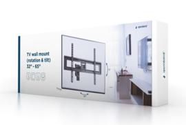 Tv muurbeugel muur beugel ophang draai- en kantelbaar 32-65 inch <40KG