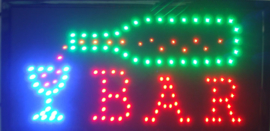 Bar drank cafe LED bord lamp verlichting lichtbak reclamebord #A2