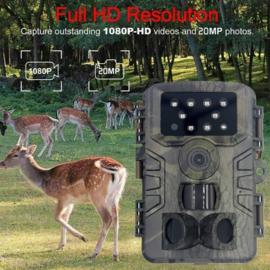 Wildlife camera buiten jacht camera nachtzicht 20MP FULLHD waterdicht