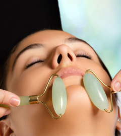 Jade roller gezichtsroller beauty massage gezicht jaderoller PREMIUM + DOOS