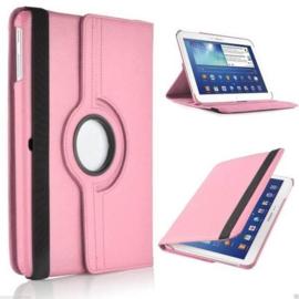 360 graden leren case hoes cover Galaxy tab 3 10.1 inch P5200 P5210 P5220 *roze*