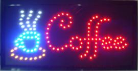 Coffee koffie lamp LED verlichting reclame bord lichtbak #F