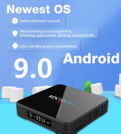 MX10 pro 4/32GB Android 9.0 tv box mediaspeler iptv MXQ PRO netflix