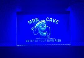 Mancave neon bord lamp LED 3D verlichting reclame lichtbak