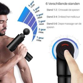 Massage gun spieren pistool apparaat sport massagegun *blauw*