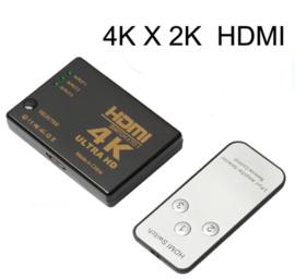 4K HDMI splitter verdeler 3x ingang switch hub + afstandsbediening