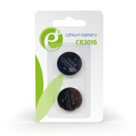 Batterij knoopcel cel cell *set van 2 stuks* CR2016 CR 2016 lithium 3V