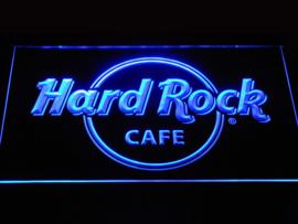Hard rock neon bord lamp LED verlichting reclame lichtbak XL 40x30cm *blauw*