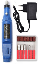 Nagelfrees nagel frees manicure pedicure elektrische vijl *blauw*