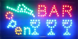 Bar drank cafe LED bord lamp verlichting lichtbak reclamebord #barE