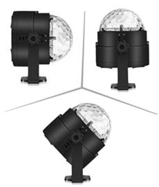 Disco bal bol verlichting licht LED lamp + VOICE & AFST. RGB