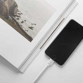 Magnetisch Iphone 7 8 X 10 oplaad kabel oplader ipad usb gevlochten