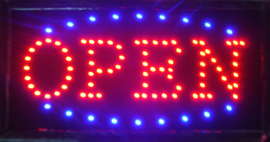 OPEN LED bord lamp verlichting lichtbak reclamebord #C6