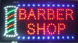 Kapper barber shop LED bord lamp verlichting lichtbak reclamebord #B15