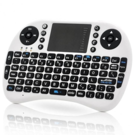 Mini wireless draadloos toetsenbord + muis Rii I8 keyboard *WIT*