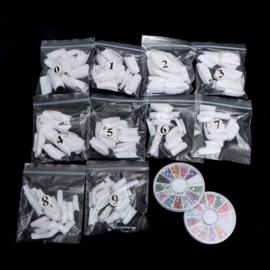 Nagel nep nagels kit starterspakket nepnagels set gel polygel *XL*