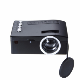 Mini beamer projector Full HD LED HDMI VGA USB SD 1080P *ZWART*