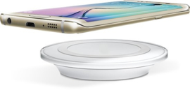 Draadloze oplader S7 S8 S9 Iphone 8 10 X QI lader draadloos *wit*