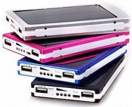 Powerbank power bank 30.000 mAh solar USB oplader + zonnepaneel + 2x USB