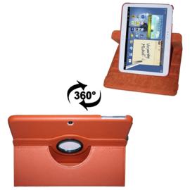 360 graden leren case hoes cover Galaxy tab 3 10.1 inch P5200 P5210 P5220 *oranje*