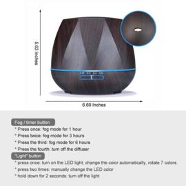 550ML lucht bevochtiger aroma diffuser verdamper verstuiver