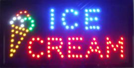 Ice cream ijs LED bord lamp verlichting lichtbak reclamebord #D